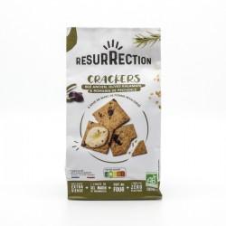 Crackers Apéro BIO blé ancien, Olives Kalamata et Romarin de Provence 100g