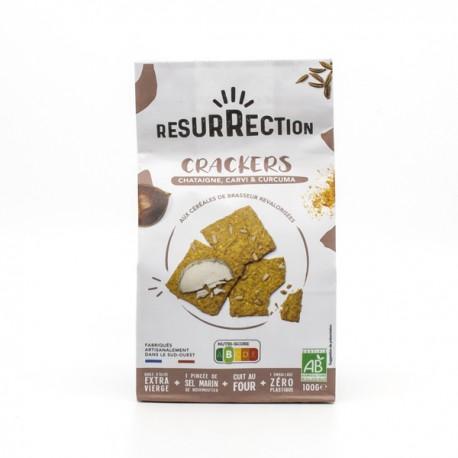 Crackers Apéro BIO Châtaigne, Carvi et Curcuma 100g