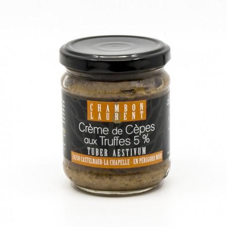 Crème de Cèpes aux Truffes Tuber Aestivum 5% Domaine de Vielcroze 180g