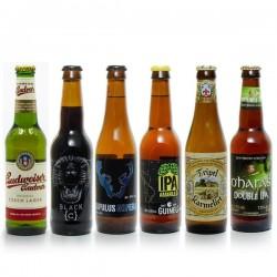 Pack de 6 bières du monde (Belgique, Espagne, Irlande, Suède) 198cl