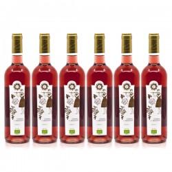 Promotion de 6 Bouteilles Château Miaudoux AOC Bergerac Rosé BIO 2020 75cl