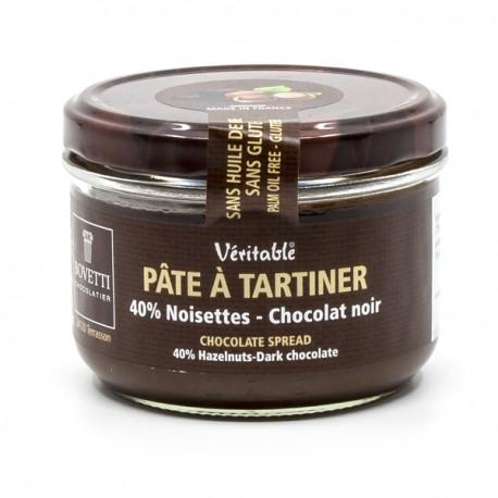 Pâte à tartiner véritable Chocolat Noir et Noisettes, sans huile de palme et sans gluten