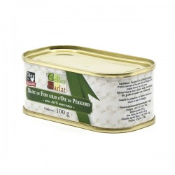 Bloc de Foie Gras d'Oie du Périgord avec 50% de Morceaux 100g