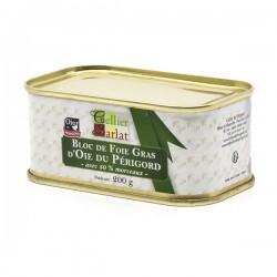 Bloc de Foie Gras d'Oie du Périgord avec 50% de Morceaux 200g