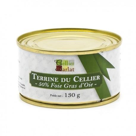 Terrine du Cellier 50% Foie Gras d'Oie 130g