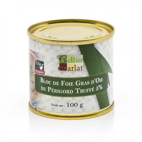 Bloc de Foie Gras d'Oie du Périgord Truffé 5% 100g