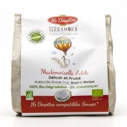 Café Gamme Adèle 100% Arabica Grand Cru Brésil Mexique BIO Dosettes Type Senseo x16