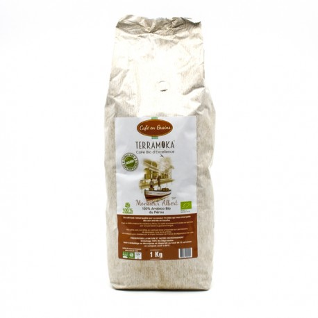 Café Gamme Albert Arabica Grand Cru Pérou BIO en Grains 1000g