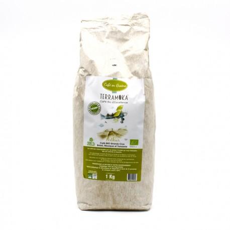 Café Gamme Arthur Grand Cru Brésil Mexique Tanzanie BIO en Grains 1000g