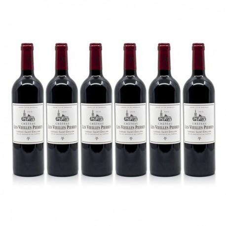 6 bouteilles Château les Vieilles Pierres 2015 AOC Lussac Saint Émilion 75cl