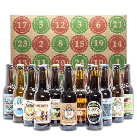 Calendrier de l'Avent 24 Bières Artisanales et Régionales