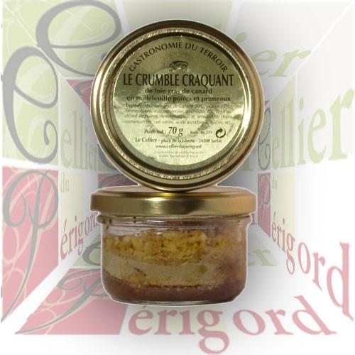 Crumble de Foie de Canard - Poires et Pruneaux