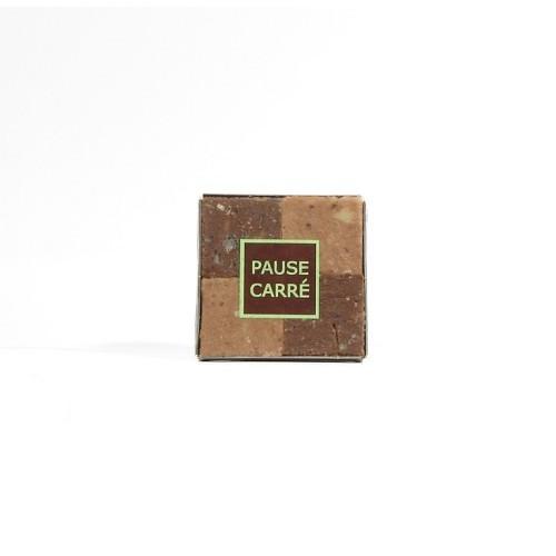 Pause carrée - Pâte d'amande noix chocolat