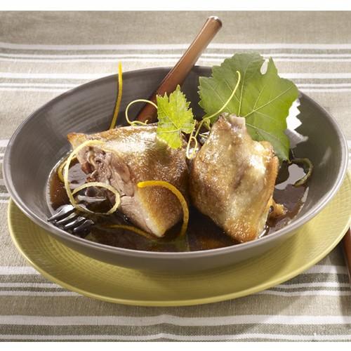 Civet de canard aux agrumes et vinaigre balsamique