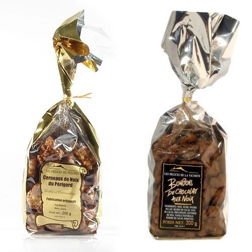 Lot de Noix au chocolat et grillé 2x200g