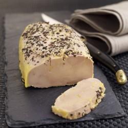 Lobe de Foie Gras de Canard Entier mi-cuit au Poivre Noir
