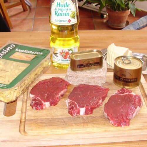 Ingrédients recette feuilletes de manchons de canard aux pruneaux