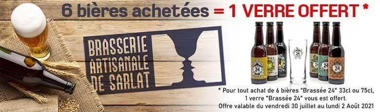 """Offre Spéciale : 6 bières """"Brassée 24"""" achetées = 1 verre offert !"""